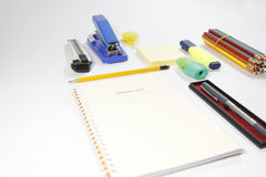 Stationary set. Back to school, back to work Stock Image
