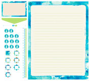 Stationary set blue template Stock Images