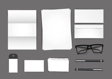 Stationary Set Mockup Royalty Free Stock Photo