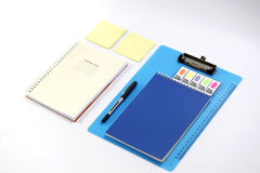 Stationary set on white background. Back to school, back to work Royalty Free Stock Photos