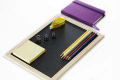 Stationary set on white background. Back to school, back to work Stock Image
