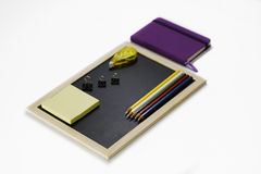Stationary set on white background. Back to school, back to work Royalty Free Stock Image