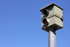 Stationary speed camera Royalty Free Stock Photo