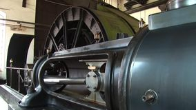 Stationary steam engine 1 stock video