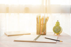 Stationary on the table. Stock Image