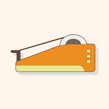 Stationary tape dispenser theme elements vector,eps Stock Photo