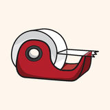 Stationary tape dispenser theme elements vector,eps. Vector illustration file Royalty Free Stock Photography