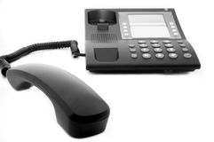 Stationary telephone Stock Photo
