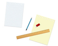 Stationary tools and paper Stock Photography