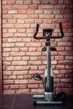 Stationary training bicycle indoors Stock Image