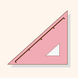 Stationary triangle theme elements vector,eps. Vector illustration file Royalty Free Stock Photos