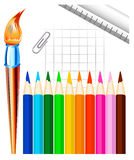Stationary vector Royalty Free Stock Photo
