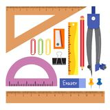 Stationary vector collection design vector illustration