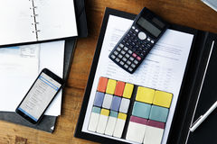 Stationary Working contract Calculating Concept Stock Image