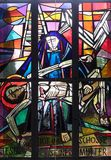 13. Stationen des Kreuzes, Jesus-` Körper wird vom Kreuz entfernt Lizenzfreies Stockfoto
