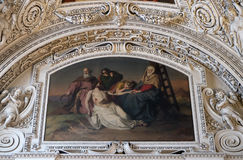 13. Stationen des Kreuzes, Jesus-` Körper wird vom Kreuz entfernt Lizenzfreie Stockfotografie