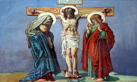 12. Stationen des Kreuzes, Jesus stirbt auf dem Kreuz Stockbild