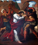 2. Stationen des Kreuzes, Jesus wird sein Kreuz gegeben Stockfotografie