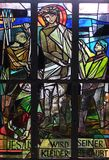 10. Stationen des Kreuzes, Jesus wird von seinen Kleidern abgestreift Stockfoto