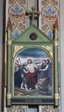 10. Stationen des Kreuzes, Jesus wird von seinen Kleidern abgestreift Stockfotografie