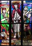 Stationen des Kreuzes, Jesus wird zum Tod verurteilt Stockfoto