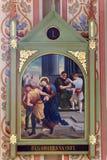 Stationen des Kreuzes, Jesus wird zum Tod verurteilt Stockbild