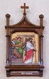 Stationen des Kreuzes, Jesus wird zum Tod verurteilt Lizenzfreie Stockfotografie