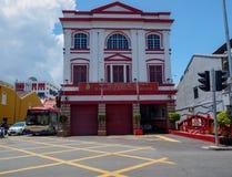 Stationen för brand 1908 på strandgatan, Georgetown, Penang, Malaysia royaltyfri foto