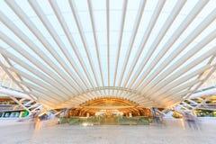 Stationen planläggs av den berömda arkitekten Santiago Calat för världen Royaltyfria Bilder