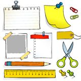 Stationery. The set of vector illustrations of stationery Stock Photo