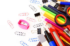 Stationery. For office and school Royalty Free Stock Photography