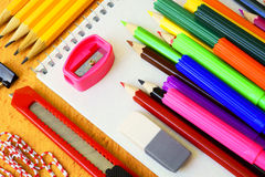 Stationery. For office and school Stock Images
