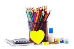 Stationery And Notebooks Royalty Free Stock Photos