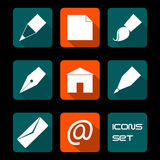 Stationery and art icons Royalty Free Stock Images