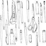 Stationery, art materials Royalty Free Stock Image