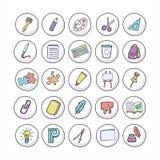 stationery Assuntos para a faculdade criadora ilustração stock