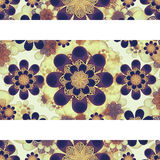 Stationery Background with Baroque Design Borders Royalty Free Stock Image