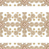 Stationery Background with Floral Borders Royalty Free Stock Photography