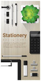 Stationery background with office equipment on wooden table Royalty Free Stock Photos