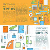 Stationery banners  templates Royalty Free Stock Images