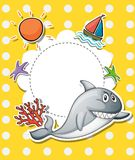 A stationery with a big gray shark Royalty Free Stock Images