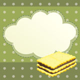 A stationery with a biscuit Royalty Free Stock Images