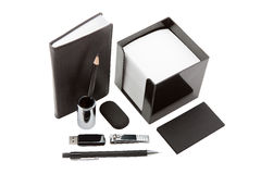 Stationery in black Royalty Free Stock Photo