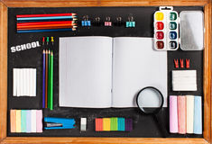 Stationery on boards Stock Images