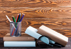 Stationery on boards Royalty Free Stock Photo