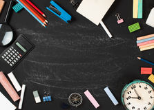 Stationery on boards Royalty Free Stock Photos