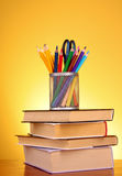 Stationery and books Royalty Free Stock Photo