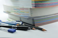 Stationery and books Stock Photos