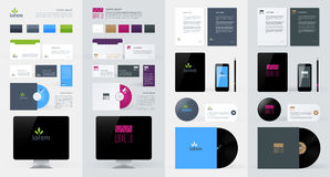 Stationery, Branding Mock-Up template Stock Images