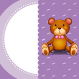 A stationery with a brown teddy bear Stock Images